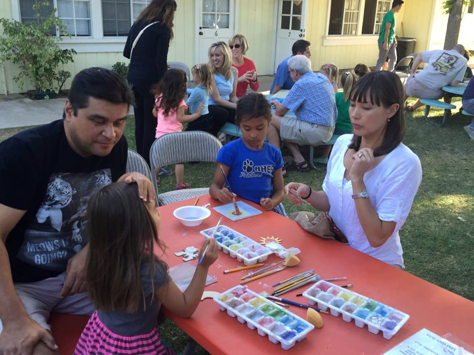 family tile making night at CV preschool (1)